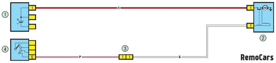 схема замка зажигания Рено Логан